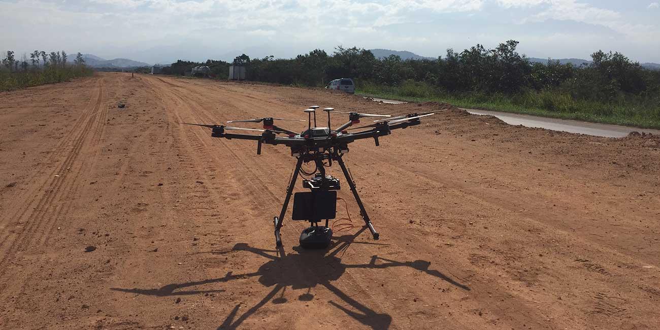 Matrice 600, um dos Drones usados pela Metro Cúbico para aplicações em engenharia, inspeção e monitoramentos